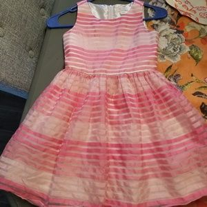 Adorable pink and white striped dress